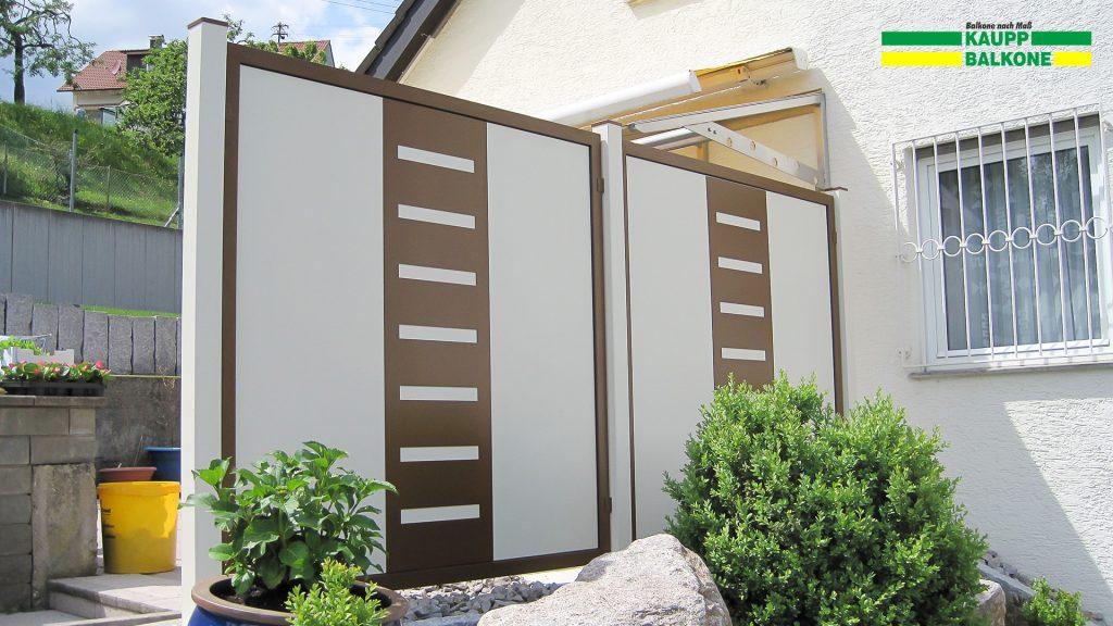 alu sichtschutz haiterbach kaupp balkone. Black Bedroom Furniture Sets. Home Design Ideas